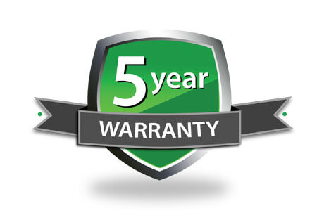 Logo for 5 year warranty