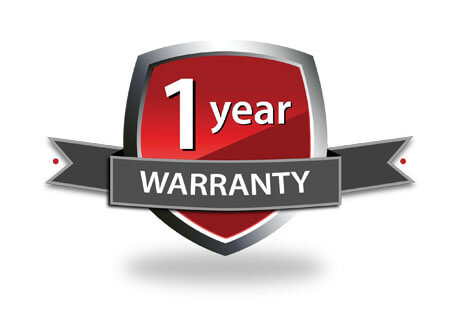 Logo for 1 year warranty
