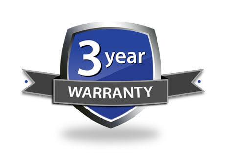 Logo for 3 year warranty