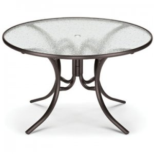 "Telescope Casual 48"" Round Glass Dining Table - TEL-277"