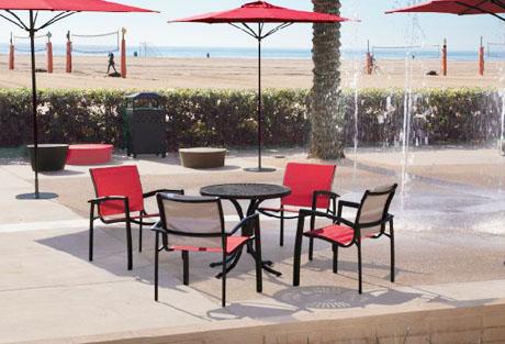 Tropitone Elance Stacking Cafe' Chair set up