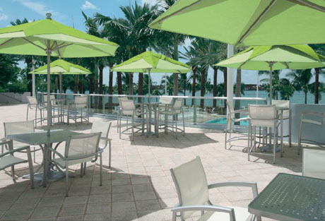 Tropitone Elance Stacking Cafe' Chair poolside