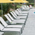 Tropitone South Beach Four Position Stacking Armless Chaise (Package of 3) resort quality