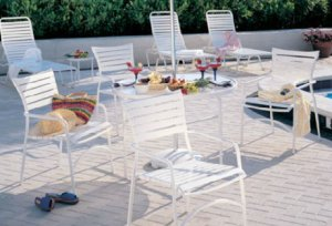 Tropitone Stacking Cafe Chair White