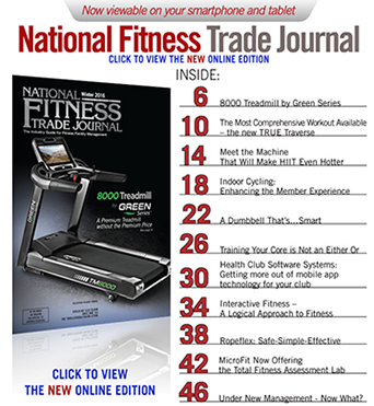Green Series 8000 Treadmill Featured in National Fitness Trade Journal