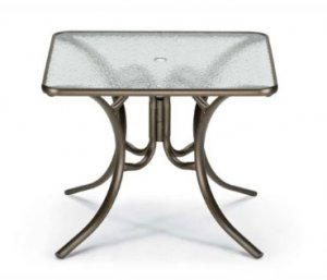 Telescope Casual 36 Square Glass Dining Table - TEL-386