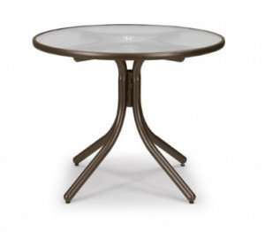 """Telescope Casual 36"""" Round Glass Dining Table - TEL-596"""