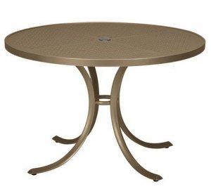 "Tropitone 42"" Perforated Top Round Dining Umbrella Table - TRO-1842SBU"