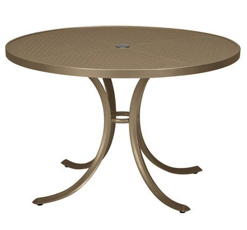 "Tropitone 42"" Perforated Top Round Dining Umbrella Table - TRO-1842SBU"