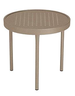 "Tropitone 20"" Side Perforated Aluminum Table - TRO-8082SB"