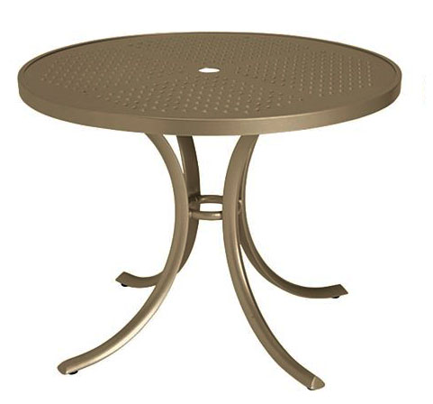 "Tropitone 36"" Perforated Top Round Dining Umbrella Table - TRO-1836SBU"