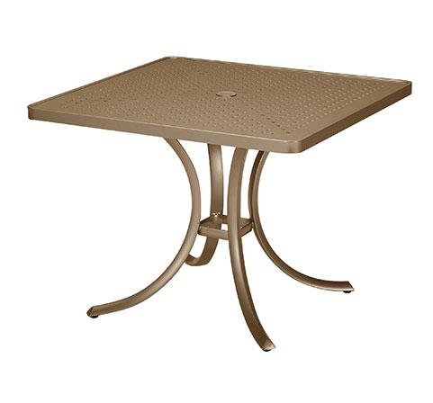 "Tropitone 36"" Perforated Top Square Dining Umbrella Table - TRO-1876SBU"