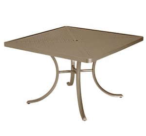 "Tropitone 42"" Perforated Top Square Dining Umbrella Table - TRO-1877SBU"
