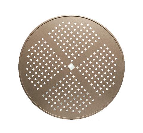 Tropitone Perforated Top Round Dining Umbrella Table