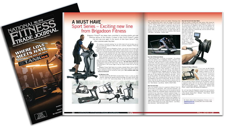 Brigadoon Fitness Featured in National Fitness Trade Journal Magazine