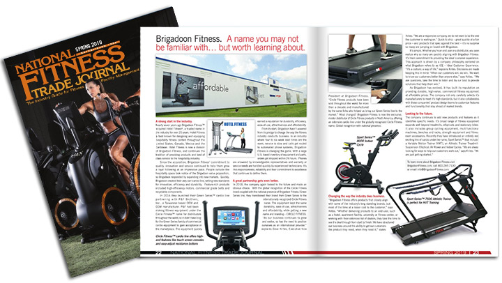 Brigadoon Fitness Featuring in the Spring Edition National Fitness Trade Journal Magazine