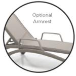 Nardi Atlantico – Stackable Sling Chaise Lounge optional armrest