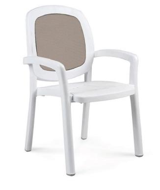 Nardi Beta Stacking Armchair NAR-40270 white/tan