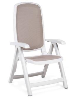 Nardi Delta Folding Adjustable Chair NAR-40310 tan/white