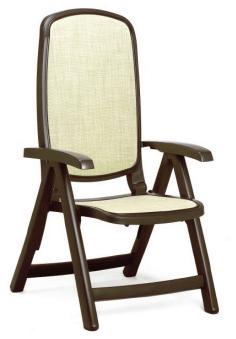 Nardi Delta Folding Adjustable Chair NAR-40310 brown/yellow