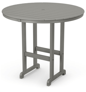 "Polywood 48"" Round Bar Table by Orange Italia"