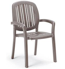 Nardi Ponza Stacking Dining Chair NAR-40268 Grey