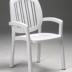 Nardi Ponza Stacking Dining Chair NAR-40268 white
