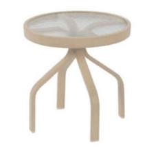 Windward Design Acrylic Top Side Table