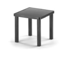 18 inch aluminum side table